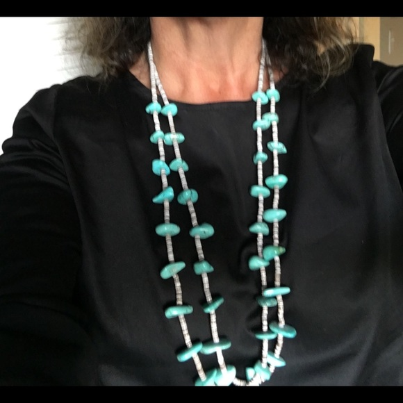 6 Strand Turquoise Necklace ~ Old Pawn
